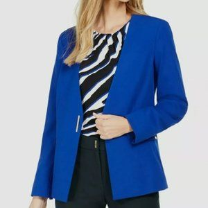 New CALVIN KLEIN Womens Blue Blazer